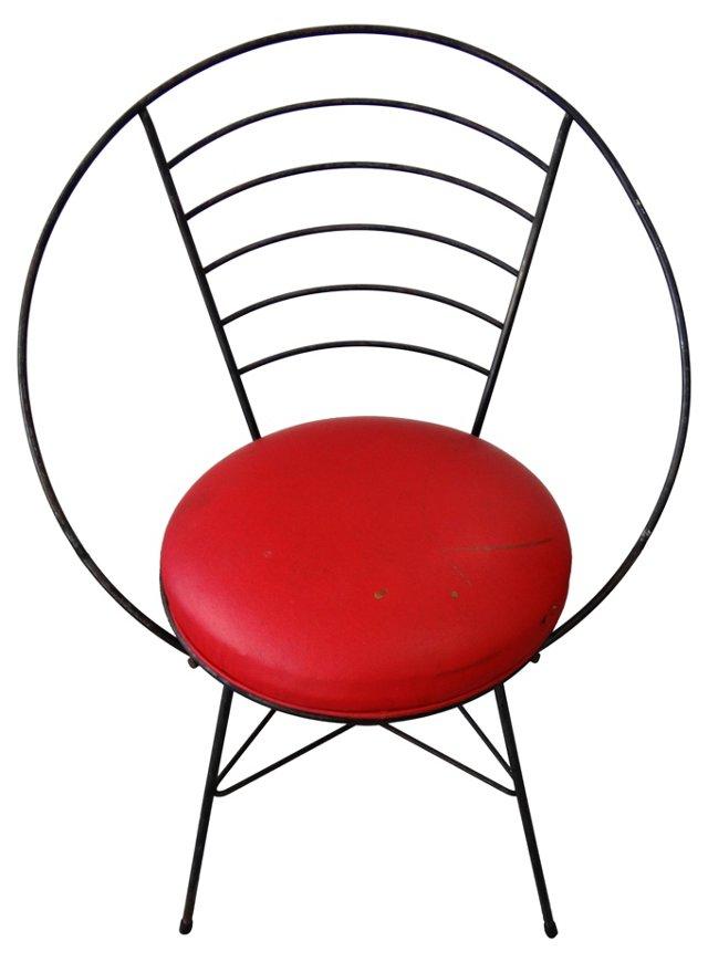 1950s Circular Iron Chair