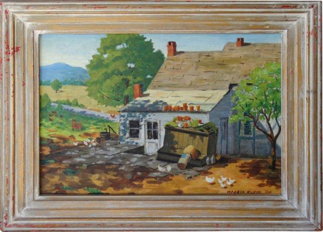 Farmhouse w/ Chicks, Morris Klien, 1944