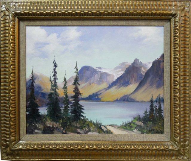 Landscape by J. Rinal, 1975