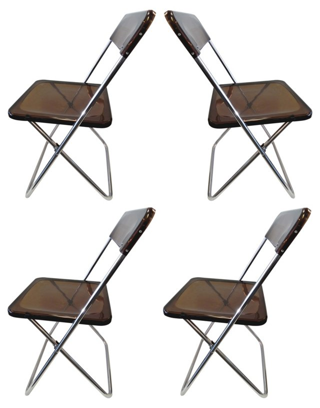 Giancarlo Castelli Folding Chairs, S/4