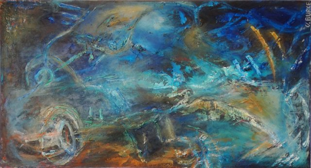 Cosmic Abstract by Vicky Burke