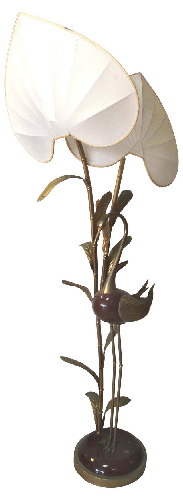 Antonio Pavia Bird Sculpture Floor Lamp