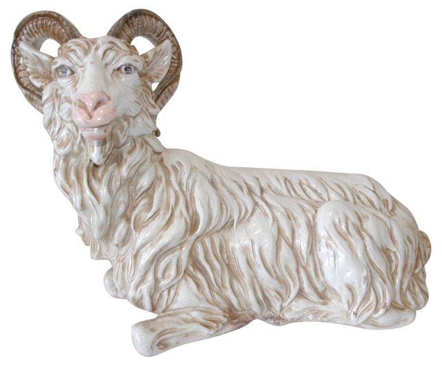 Ceramic Ram Sculpture