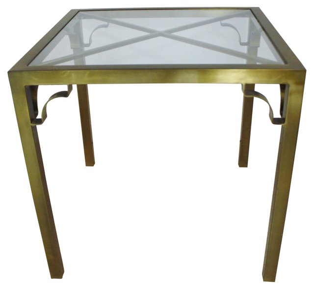 Square Bronze &  Glass Table