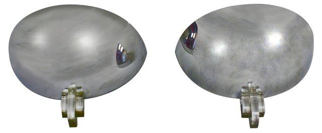 Chrome Sconces by Boyd, Pair