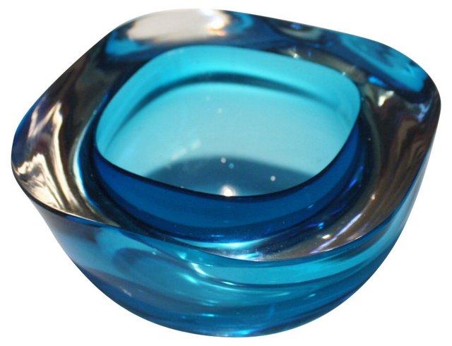 Murano Sommerso Aquamarine Bowl