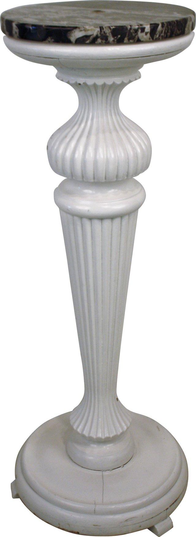 Decorative Marble-Top Pillar