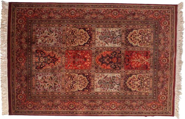 "Persian Wool Rug, 8'5"" x 5'7"""
