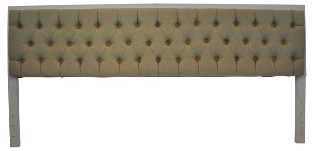 Belgian Linen Tufted Headboard, King