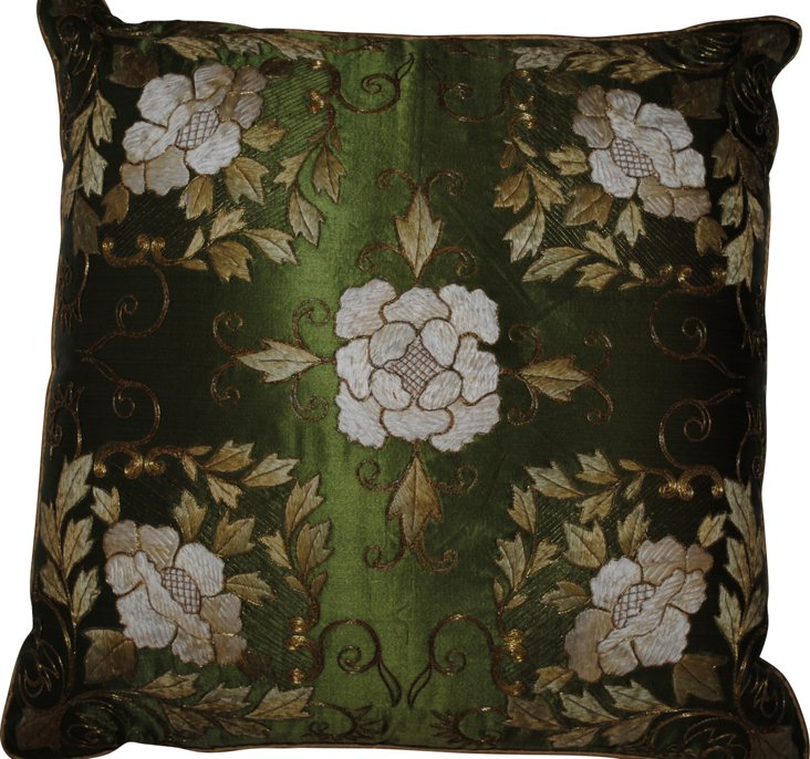 Pillow w/ Antique Embroidery