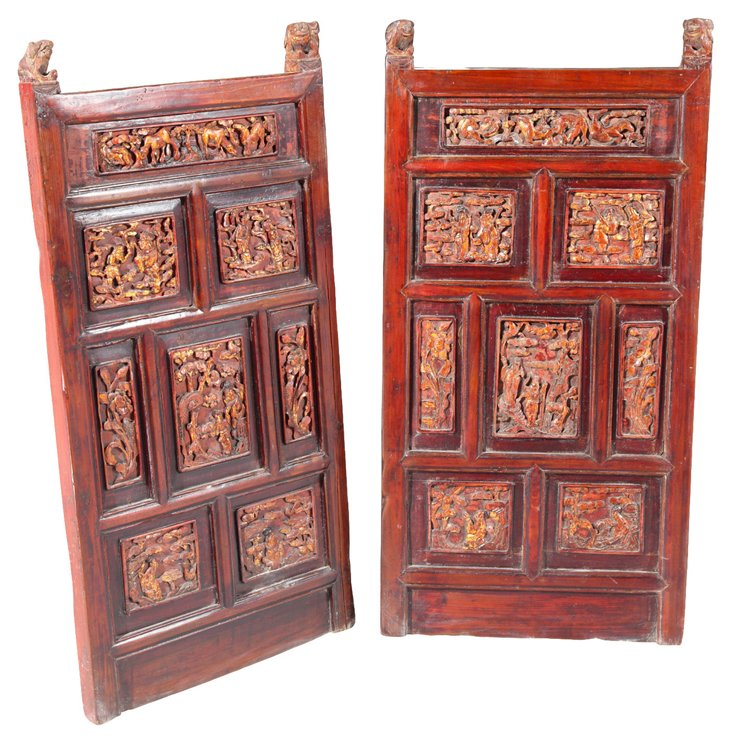 Carved Panels, Pair