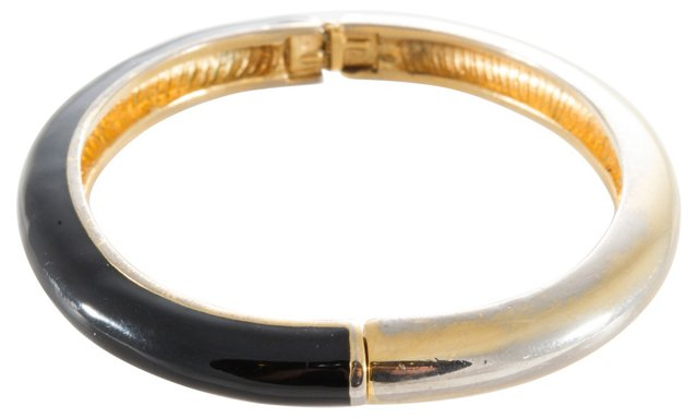 Black & Gold Enameled Bracelet