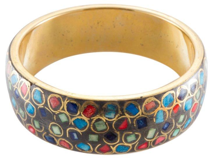Hand-Painted Bangle Bracelet