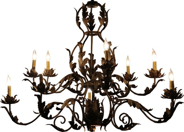 10-Arm Chandelier