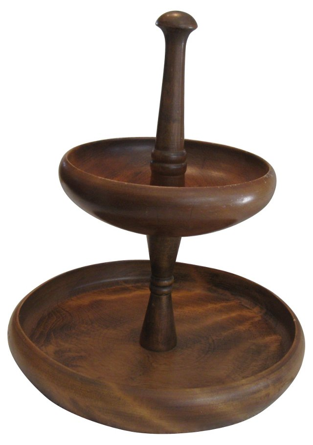 Teak Tiered Serving Tray