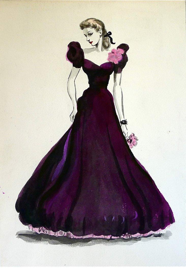 Mulberry Velvet Gown