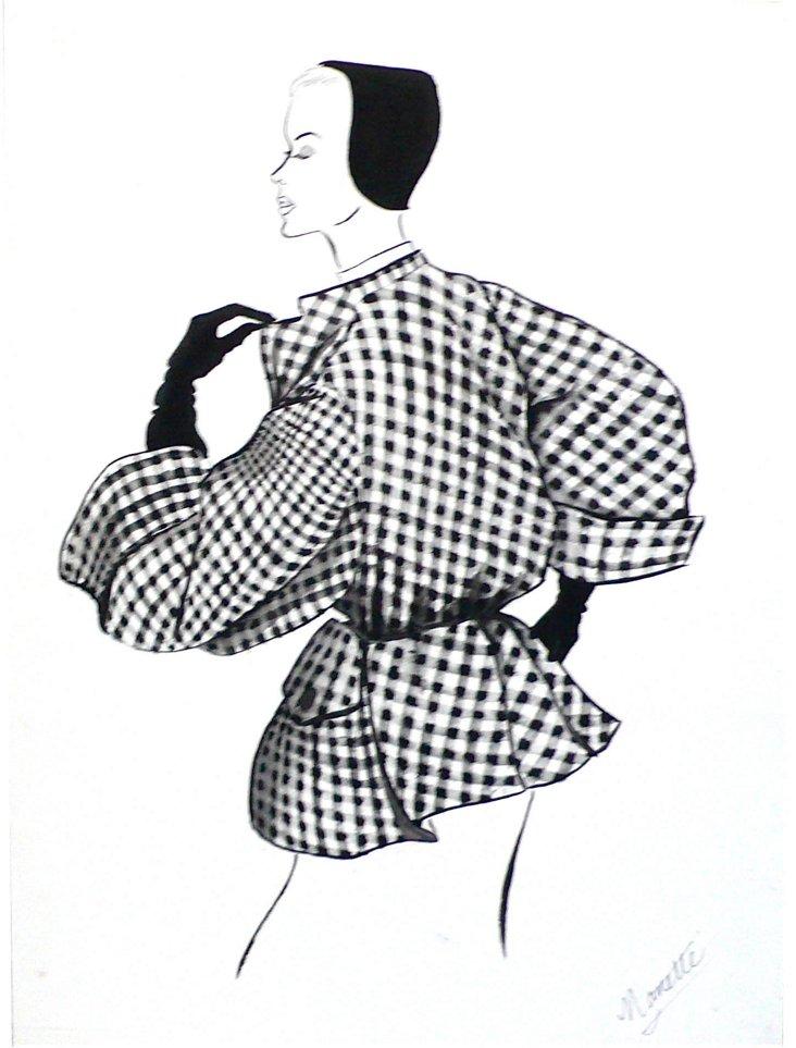 Black & White Jacket Drawing