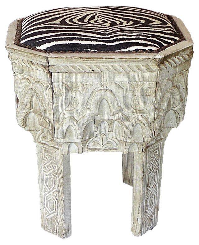William Travilla Antique Moorish   Stool