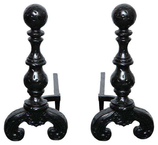 Black Cannonball  Andirons