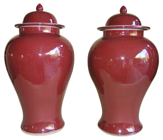 20th-C. Chinese  Vases, Pair (sold)