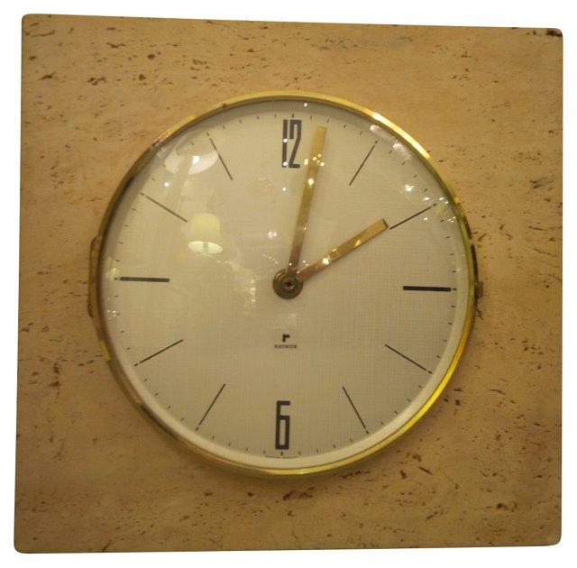 Raymor Travertine Clock