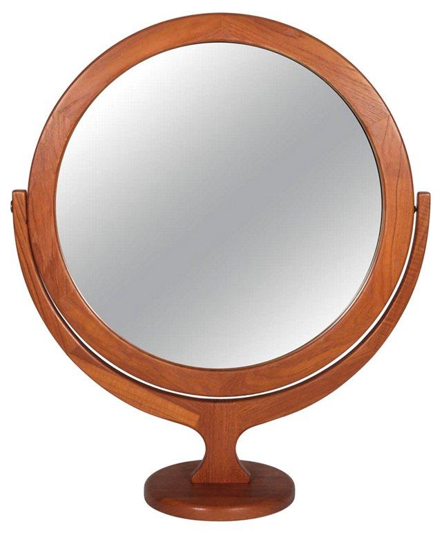 Danish Teak Vanity Mirror