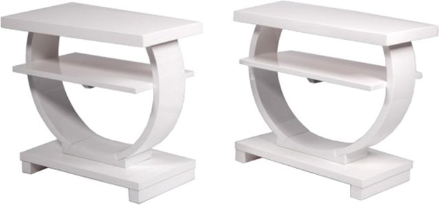 Art Deco Lacquered Tables, Pair