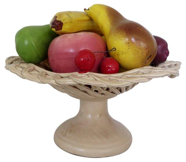 Horchow Ceramic Fruit Basket
