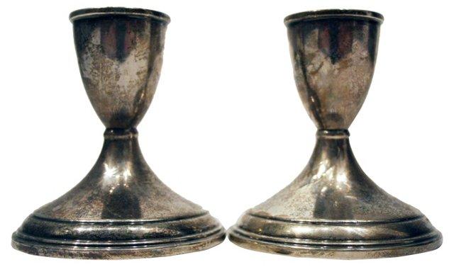Preisner Sterling Candleholders, Pair