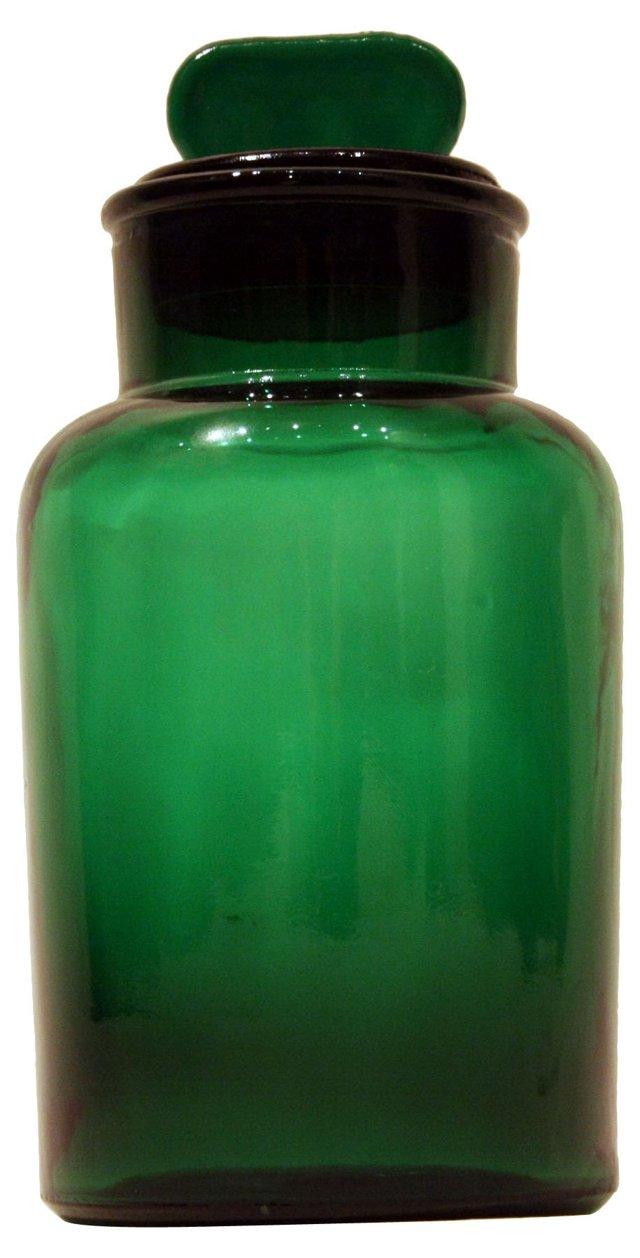 Italian Glass Canister