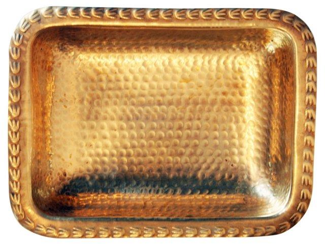 Hammered Brass Dish