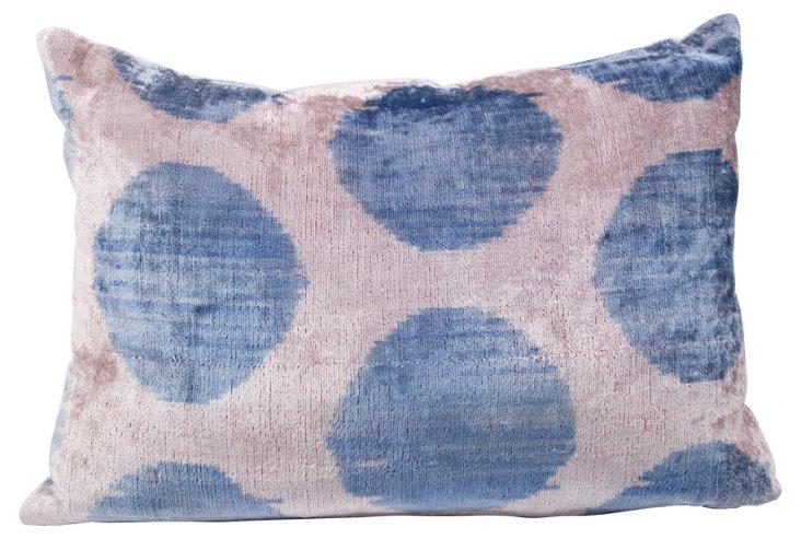 Blue Polka Dot Pillow   Sham