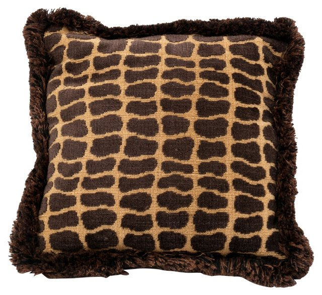 Brown & Yellow Velvet Pillow