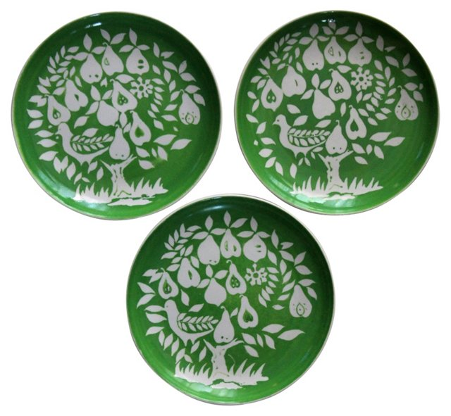 Partridge Dishes, S/3