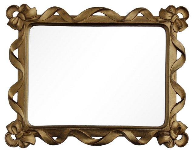 Gilt Bow Mirror