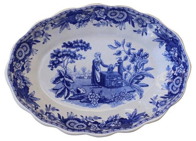 Blue & White Spode Catchall