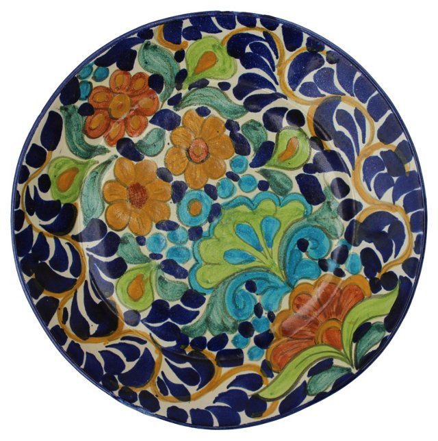 Floral Majolica Plate