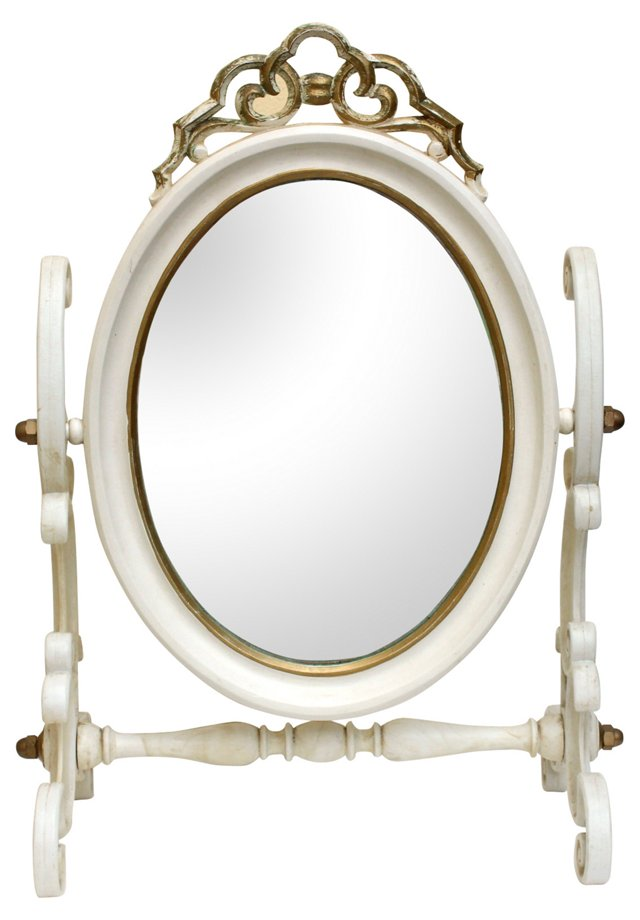 Gilt & White Swing Mirror