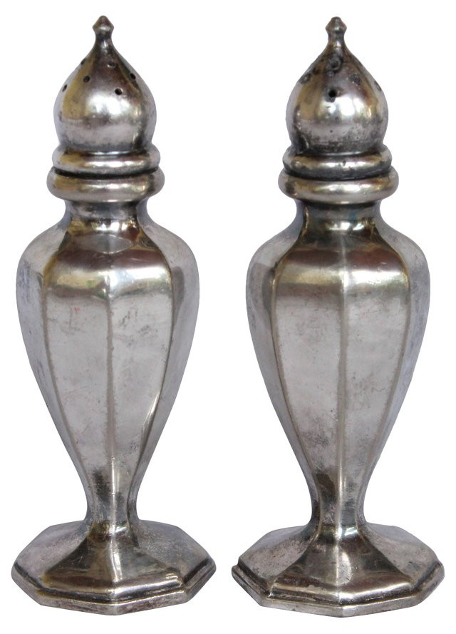 Silverplate Salt & Pepper