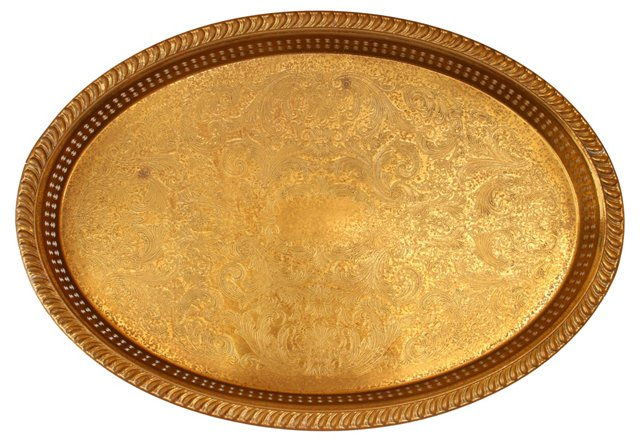 Oval Etched Tray