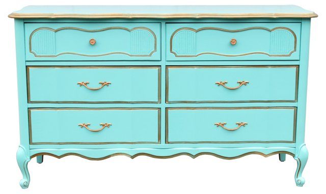 Tiffany Blue French-Style  Dresser