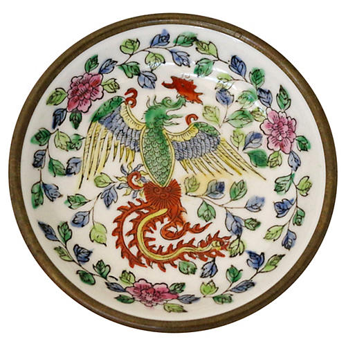 Hand-Painted Porcelain Dragon Catchall