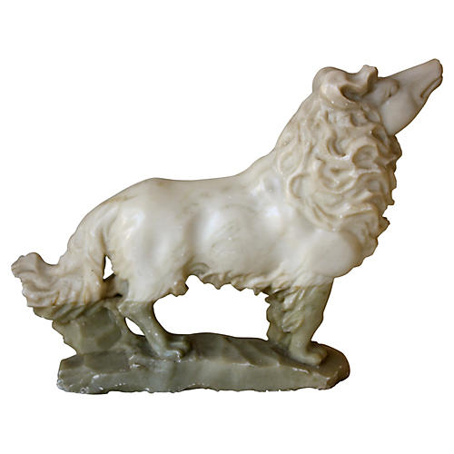 Carved Marble Wolf