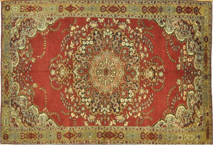 Semi-Antique Oushak, 6'8'' x 10'7''