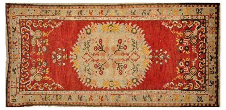 "Turkish Anatolian Rug, 5'8"" x 2'10"""