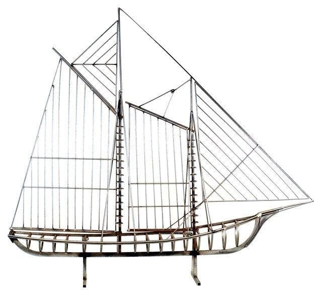Steel Ship Model by Curtis Jeré