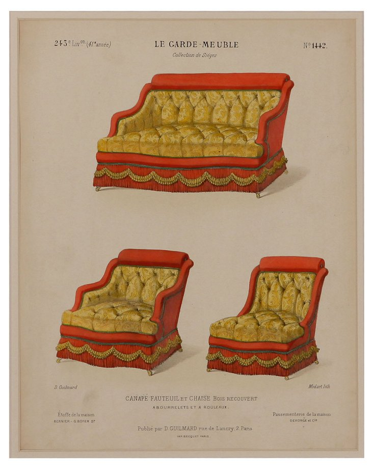 Antique Furniture Lithograph