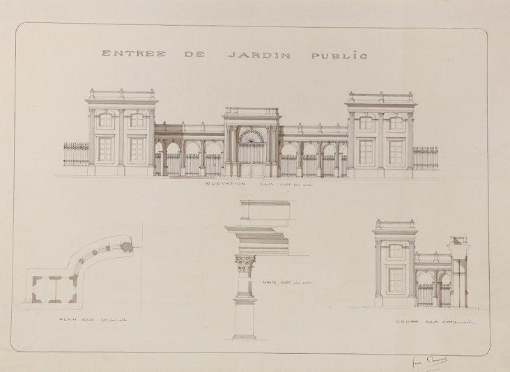 Entrée de Jardin Public by J. Canouet