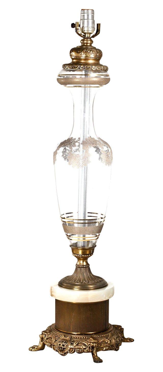 Brass Filigree Lamp