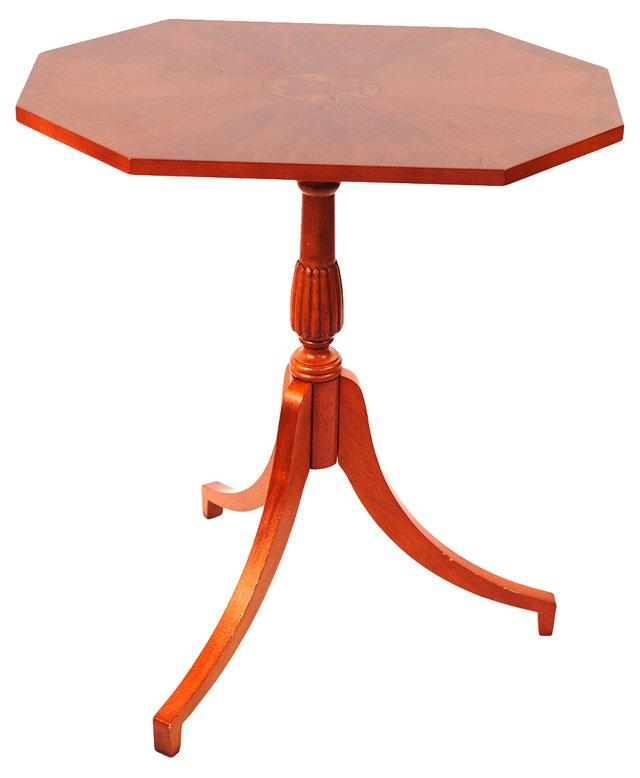 Octagonal Mahogany Marquetry Table